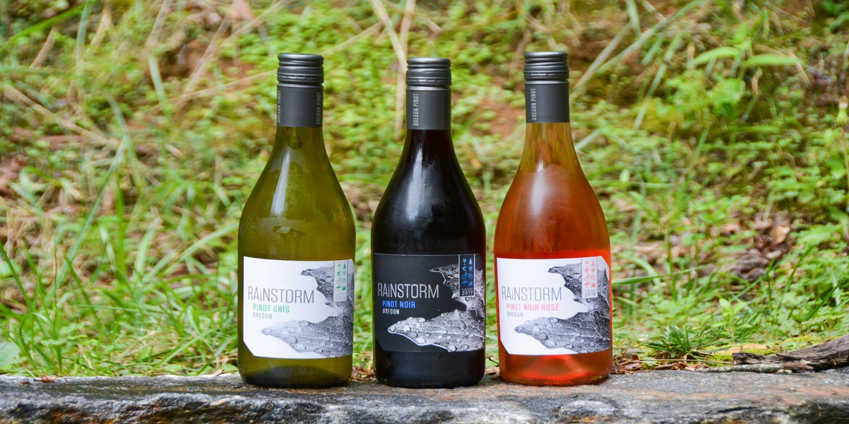 A trio of low acidity wine options from Rainstorm